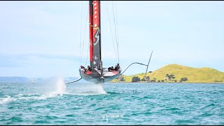 AC36: New video of a foiling jibe by ETNZ, first we've seen
