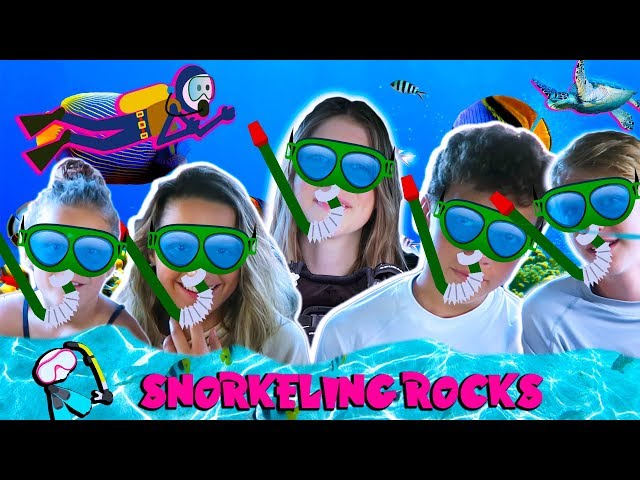 MAUI SNORKELING ROCKS- ANNIE LEBLANC, HAYDEN SUMMERALL, UNCLE RUSH, BROOKE AND HAYLEY