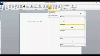 How to insert page number XofY in word