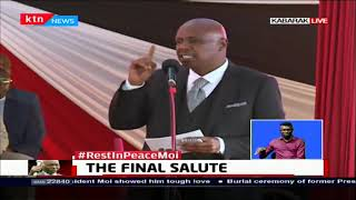 Gideon Moi: My wife and I were in the hospital when my dad passed away
