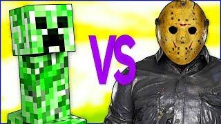 MINECRAFT VS FRIDAY THE 13TH | СУПЕР РЭП БИТВА | Майнкрафт игра ПРОТИВ Пятница 13 Джейсон Вурхиз
