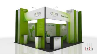 3 In 1 Exhibition Stand Design Ideas Using Creeya™ Custom Modular Exhibition Stand