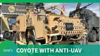 Supacat's HMT 600 Coyote with AUDS (Anti-UAV Defence System) - DVD 2018