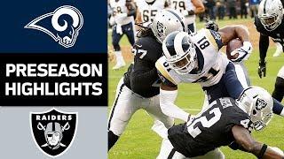 Rams vs. Raiders | NFL Preseason Week 2 Game Highlights