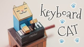 Keyboard cat automata papercraft (step by step tutorial)