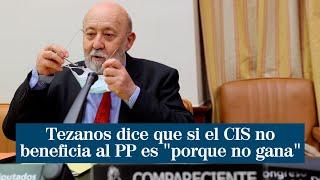 """Tezanos dice que el CIS es el """"más fiable"""" y que si no benefician al PP es """"porque no gana"""""""