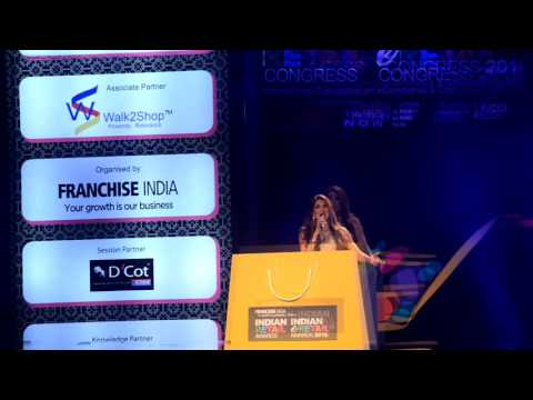 Sonali Gupta : Hosting 2016 Awards Night For Retail & E - Retail ( FRANCHISE INDIA )