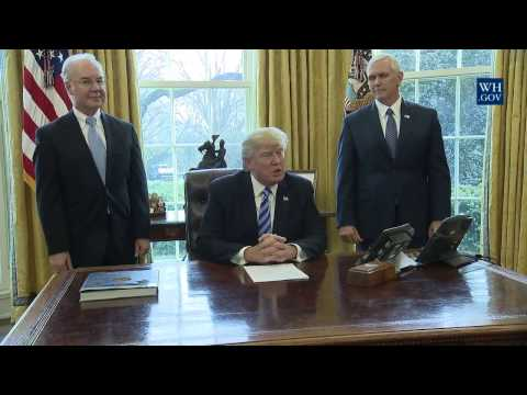 President Trump Makes a Statement on Healthcare Law
