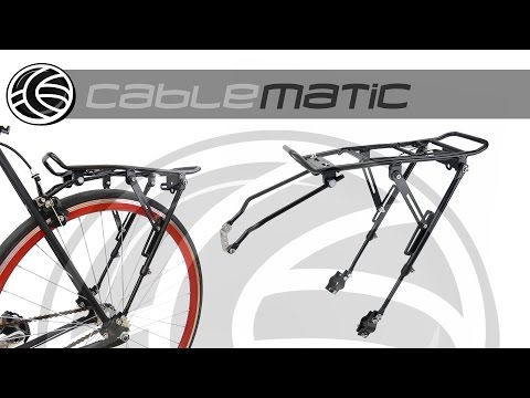 Portaequipajes metálico trasero de bicicleta con palanca  39x34cm distribuido por CABLEMATIC ®