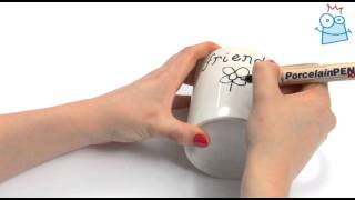 How to personalise mugs with porcelain pens