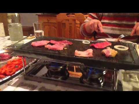 spring heißer stein raclette