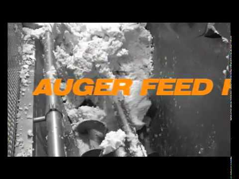 Feed system for viscous products - auger feed hopper