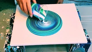 Acrylic Pouring | Easy Ring Swirl | Trying Out Primary Elements ColourArte