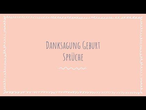 Danksagung Geburt Sprüche für Baby Dankeskarten - Deutsch - Youtube