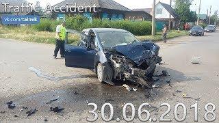 Подборка аварий и дорожных происшествий за 30.06.2018 (ДТП, Аварии, ЧП)