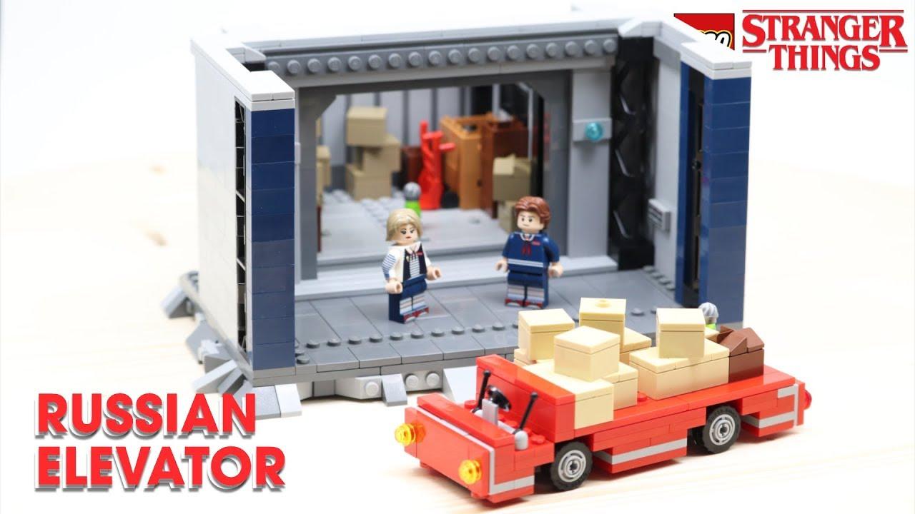 LEGO Secret Russian Elevator Scene From STRANGER THINGS! // Custom LEGO MOC