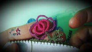 Pipet Ile Iğne Oyası çiçek Yapımı   Embroidery Thread