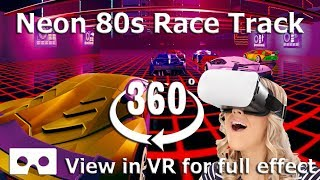 VR Tron Neon 80's retro Race Game 360 4K Video