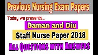 Download Video NURSE GOVERNMENT JOBS 2018 I NURSING QUESTIONS AND