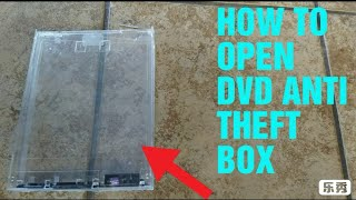How to open DVD lock box / Anti Theft case