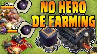 3 NO HERO DE FARMING METHODS - Easy TH9 Dark Elixir Farming Armies - Clash of Clans
