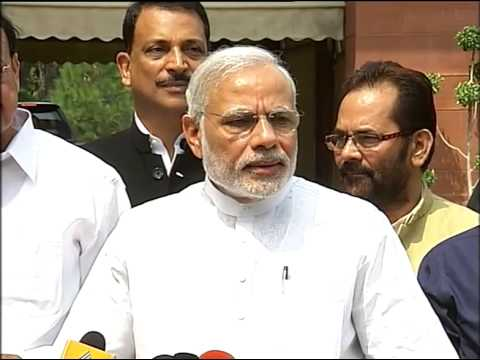 PM's statement to Media outside Parliament ahead of the Monsoon Session of 2015