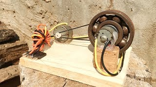Free Energy Generator Flywheel 2019 , Make Self Running From DC Motor , Amazing Science Project