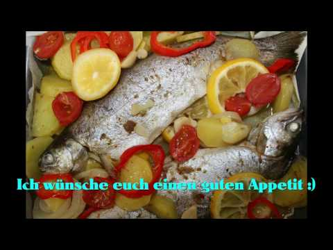Forelle und Gemüse im Ofen