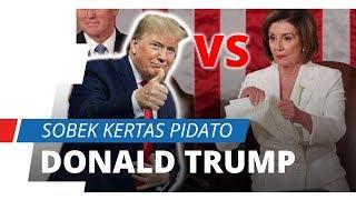 Video Detik-detik Nancy Pelosi Robek Kertas Pidato Donald Trump
