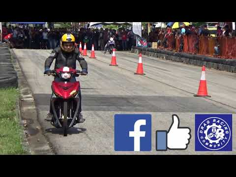 PART3/4 DRAG Bike Y15ZR RS150R Std Body Drag Racing Kubang Menerong May 2018