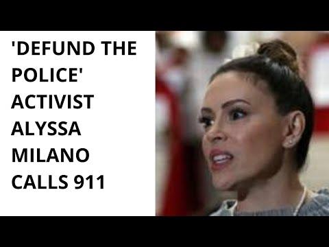 'Defund the police' activist Alyssa Milano calls 911