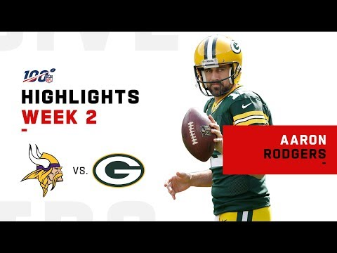 Aaron Rodgers Throws 2 TDs for 2-0 Record | NFL 2019 Highlights