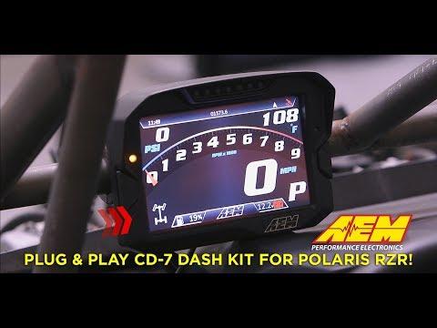 Full Color Programmable Dash for Polaris RZR UTVs!