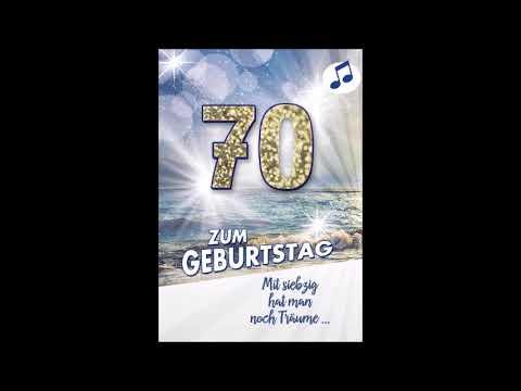 Din A5 Jetzt ist es soweit Zahl 70 Geburtstagskarte mit Musik