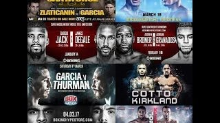 BOXING SCHEDULE - 1ST QUARTER 2017!  GOOD START, SOLID FIGHTS, AND HOPEFULLY IT CONTINUES!