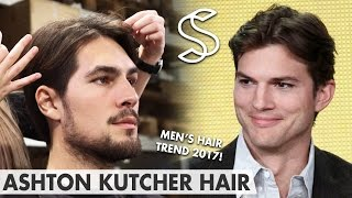 Ashton Kutcher Hairstyle - Mens Hair Fashion 2017 - Middle Parting - Two And A Half Men
