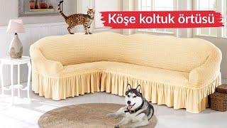 Защитный чехол на диван и кресла из эластичной ткани крэш. Golden Турция от компании Euro texti VIP - видео 3