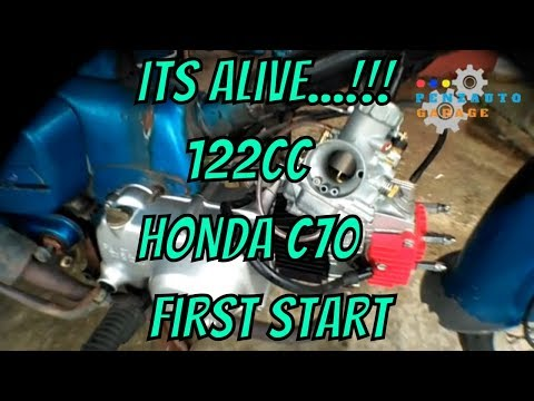 Engine First Start - Restoration of my 122cc Honda C70 Cub