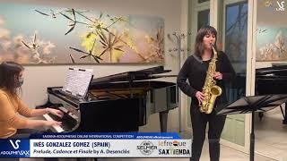 Inés GONZALEZ GOMEZ plays Prelude cadence et finale by A. Desenclos #adolphesax