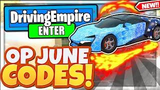(JUNE 2021) ALL *NEW* SECRET OP CODES! Driving Empire Roblox Фото 1