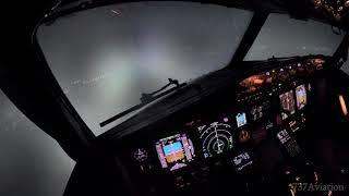 4K Boeing 737-800 Night Landing In Kiev Boryspil - KBP/UKBB
