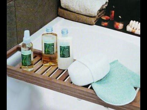Bambus Bad Ablage Möbel - Deko wellness Ideen und Trends