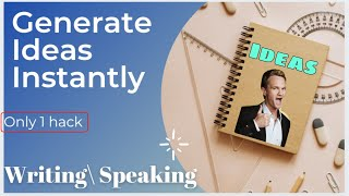 How to get unlimited ideas in ielts   Writing and speaking   how to generate ideas instantly