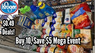 Kroger | Mega Event - Buy 10, Save $5 | $0.49 Grocery Items 🙌🏽 - No Coupons Needed! 11/6 - 11/19