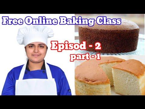 Free Online Baking class Episode -2 || perfect vanilla sponge Cake || kerala kitchen
