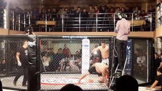 Зрелищный бой на турнире Алаш прайд