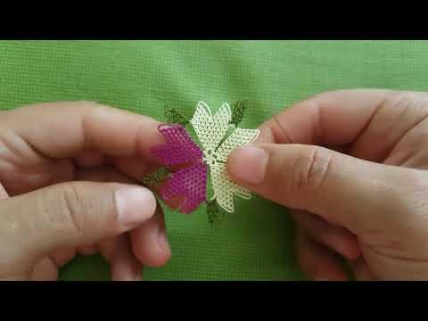 İğne oyası Namaz örtüsü için çok güzel bir motif yapımı