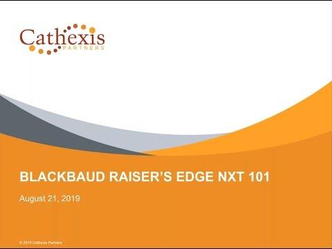 Blackbaud Raiser's Edge NXT 101 - YouTube