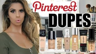 PINTEREST DUPES TESTED Foundations   Laura Lee