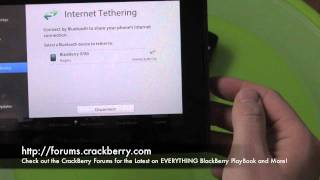 Internet Tethering on the BlackBerry PlayBook How To